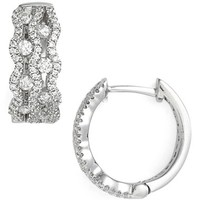 Women's Bony Levy 'Nava' Diamond Hoop Earrings (Limited Edition) (Nordstrom Exclusive)