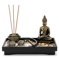 Zen Garden Kit (Buddha, Stones, Incense Holder, Rake)