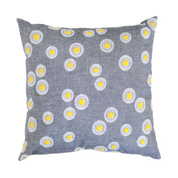 Pillow | Vintage Chambray + Flowers