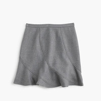 J.Crew Womens Flutter Mini Skirt In Double-Serge Wool