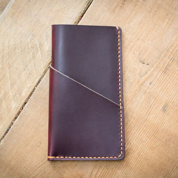 Burgundy Leather iPhone 6 Case