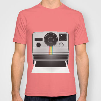 Retro Polaroid Camera T-shirt by mikailah.clark