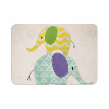 "Noonday Design ""Balancing Act "" Multicolor Kids Memory Foam Bath Mat"