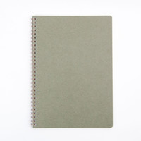 Plain B5 Spiral Notebook Green
