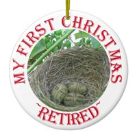 Money Nest Eggs Ceramic Ornament