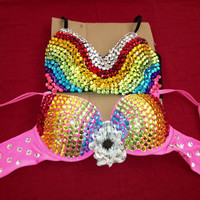 Bedazzled Rave Bra by BrilliantBedazzles on Etsy