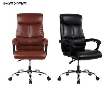 iKayaa Adjustable Ergonomic PU Leather Executive Office Chair High Back Office Chair Furniture
