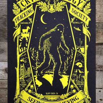 "Cryptozoology - Glow in the Dark POSTER 12"" x 18"""