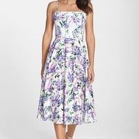 Women's Maggy London Floral Print Fit & Flare Midi Dress