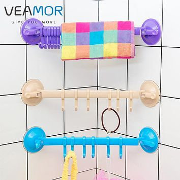 VEAMOR Kitchen Bathroom Wall Seamless Removable Hanging Hooks Lock Type Powerful Suction Cup Coat Clothing Hooks WB1255