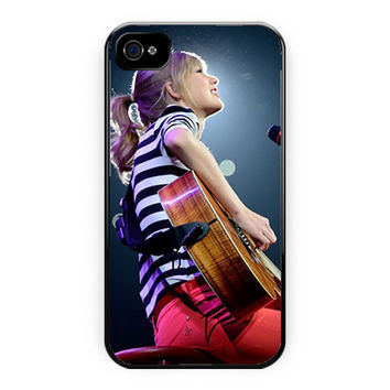 Taylor Swift Cute Perform Music iPhone 4/4S Case