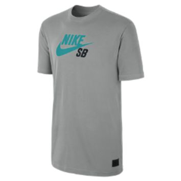 Nike SB QT Icon Logo Men's T-Shirt - Dark Grey Heather
