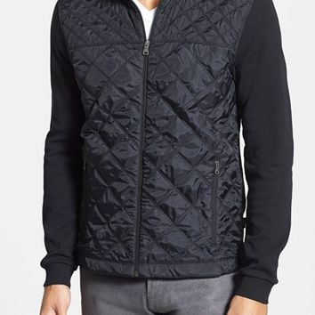 Men's BOSS HUGO BOSS 'Pizzoli' Knit & Quilted Jacket