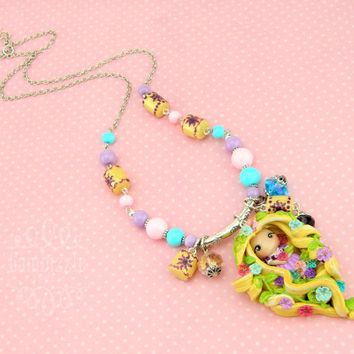 Rapunzel necklace, Tangled necklace, Disney necklace