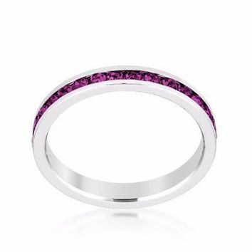 Swarovski Crystal Eternity Ring | Amethyst Purple