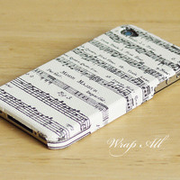 Music notes iPhone 4 case / Music iPhone 4s case/ Music by WrapAll