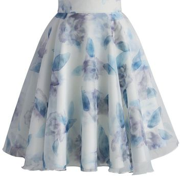 Best Time of Roses Organza A-line Skirt