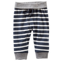 Striped Jersey Pants