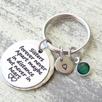 Sisters keychain, sisters forever, best friends, sister gift, forever my sister, sister keychain