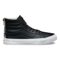 Leather SK8-Hi Slim Zip | Shop at Vans