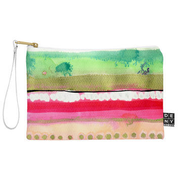 CayenaBlanca Ink Stripes Pouch