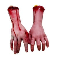 Scary Funny Broken Finger Hand Sent BY Random Blood Halloween Decoration Severed Simulate Hand Novelty Dead Broken Hand Gadgets