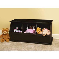 Kids 3 Cubby Storage Bin Basket Storage Room Bedroom Furniture Organizer Stackable Cubby Unit