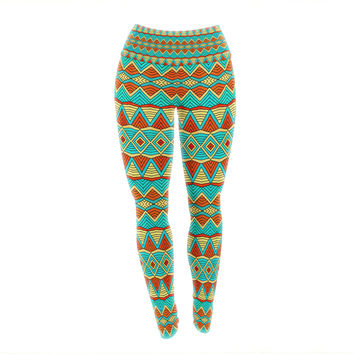"Pom Graphic Design ""Tribal Soul"" Yoga Leggings"