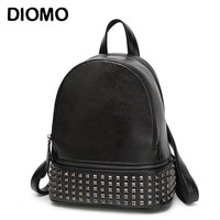 DIOMO Rivets Backpack Women Small Backpacks For Teenage Girls Bagpack Women's Casual Daypacks Female Backpack sac a dos femme