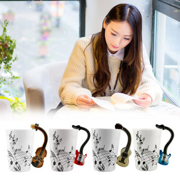 Musical Instrument Note Style CoffeeCup .Christmas Gift Home Office Drinkware