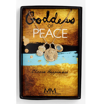 Melinda Maria Goddess of Peace Necklace, 14K Gold Plated, 18-19 inch