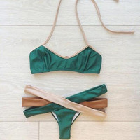 Fashion Hollow out Swimwear Bikini Swimsuit