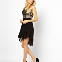 Jovonnista Skater Dress With Sequins