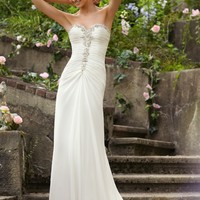 Voyage by Mori Lee 6748 Soft Chiffon Wedding Dress