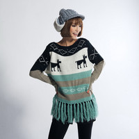 Aliexpress.com : Buy Free shipping 2013 new style women sweater Christmas deer jacquard sweater fringed edges Pullovers FB2050 9376 45 from Reliable sweater pullover suppliers on eFoxcity Wholesale