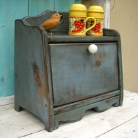 Bread Box  Shabby  Your Antique Color choice by honeystreasures