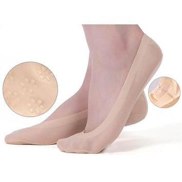 Fashion Women No Show Socks Necessity Transparent Pilates Non-Slip Silk Socks Footsies Sheer Low Cut Socks for Female Slippers