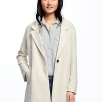 Textured-Bouclé Everyday Coat for Women | Old Navy