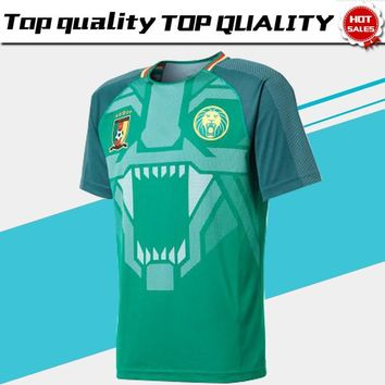 2018 Cameroon home green Soccer Jersey Cameroon home Soccer Shirt 2018 Cameroun football Uniform Sales