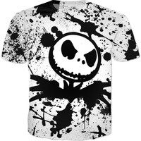 Black And White Nightmare Before Christmas T-shirt