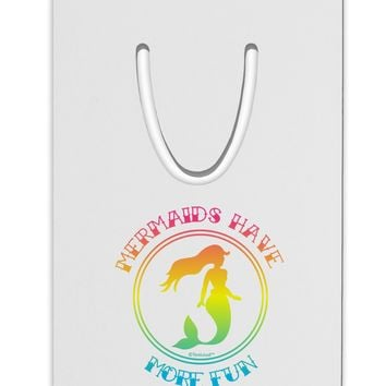 Mermaids Have More Fun - Beachy Colors Aluminum Paper Clip Bookmark