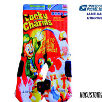 Lucky Charms SAME DAY SHlPPlNG!! Custom Nike Elite Socks All Sizes