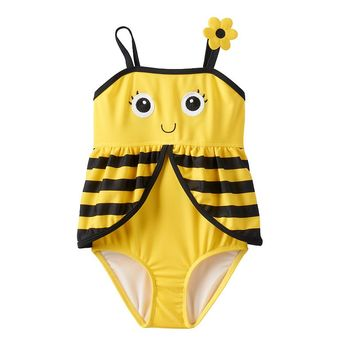 Candlesticks Bumblebee One-Piece Swimsuit - Toddler Girl, Size: