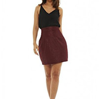 Black Sleeveless Top and Wine Skirt 2 in 1 Dress