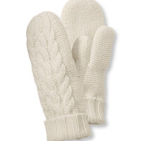 Heritage Wool Mitten, Cable Knit: Gloves and Mittens | Free Shipping at L.L.Bean