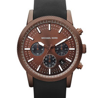 Michael Kors Espresso Stainless Steel Runway Chronograph Watch