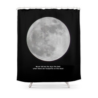 Society6 The Moon Shower Curtain