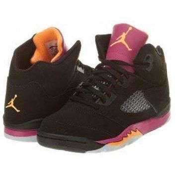 Nike Air Jordan 5 Retro (PS) Girls Basketball Shoes 440893-067 jordans shoes for girl