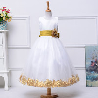 High Quality 13 colors New Flower Girl dress for Wedding Floor length Princess girls Pageant Dresses 2016 First communion dress