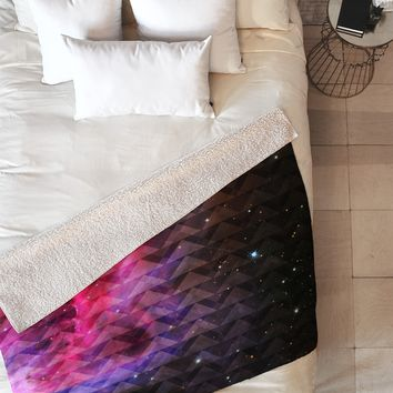 Caleb Troy Tribal Galaxy Elevator Fleece Throw Blanket